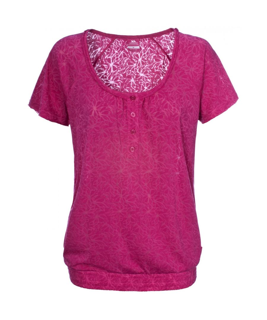 Image for Trespass Womens/Ladies Desire Pink Casual Short Sleeve Top