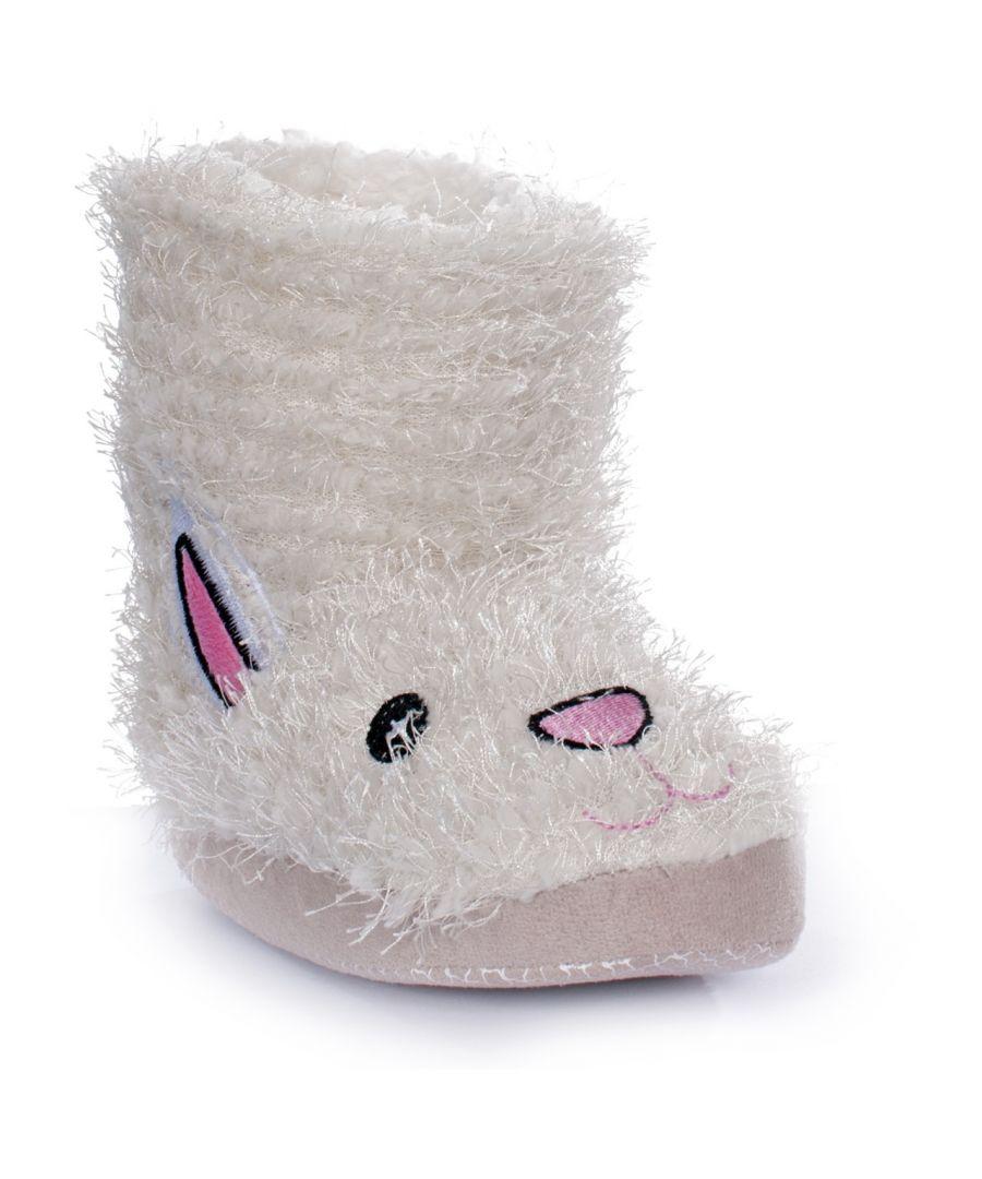 Image for Trespass Childrens/Kids Girls Hoppity White Slippers