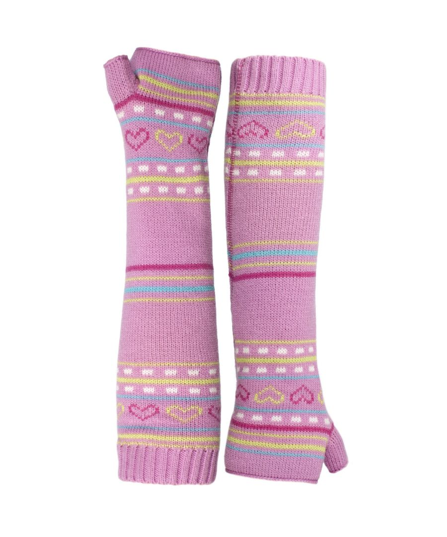 Image for Trespass Childrens Girls Dione Knitted Arm Warmers