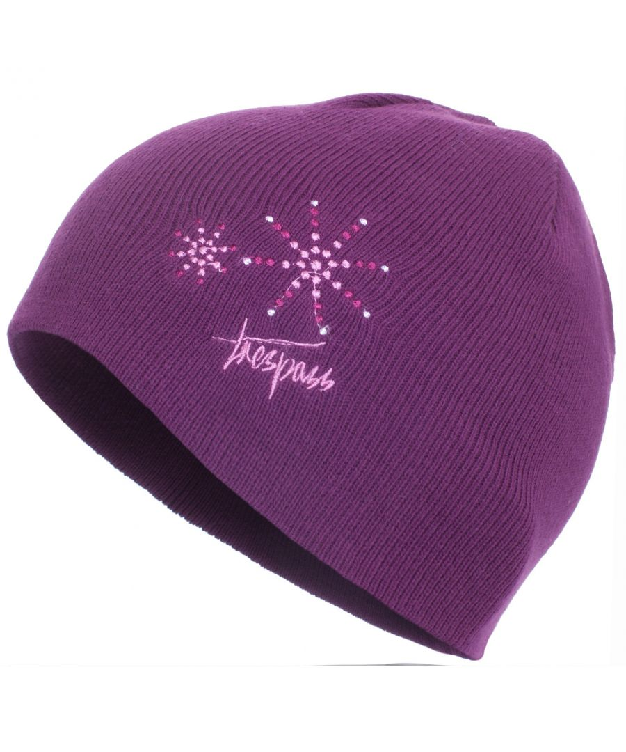Image for Trespass Childrens Girls Sparkle Knitted Beanie Hat