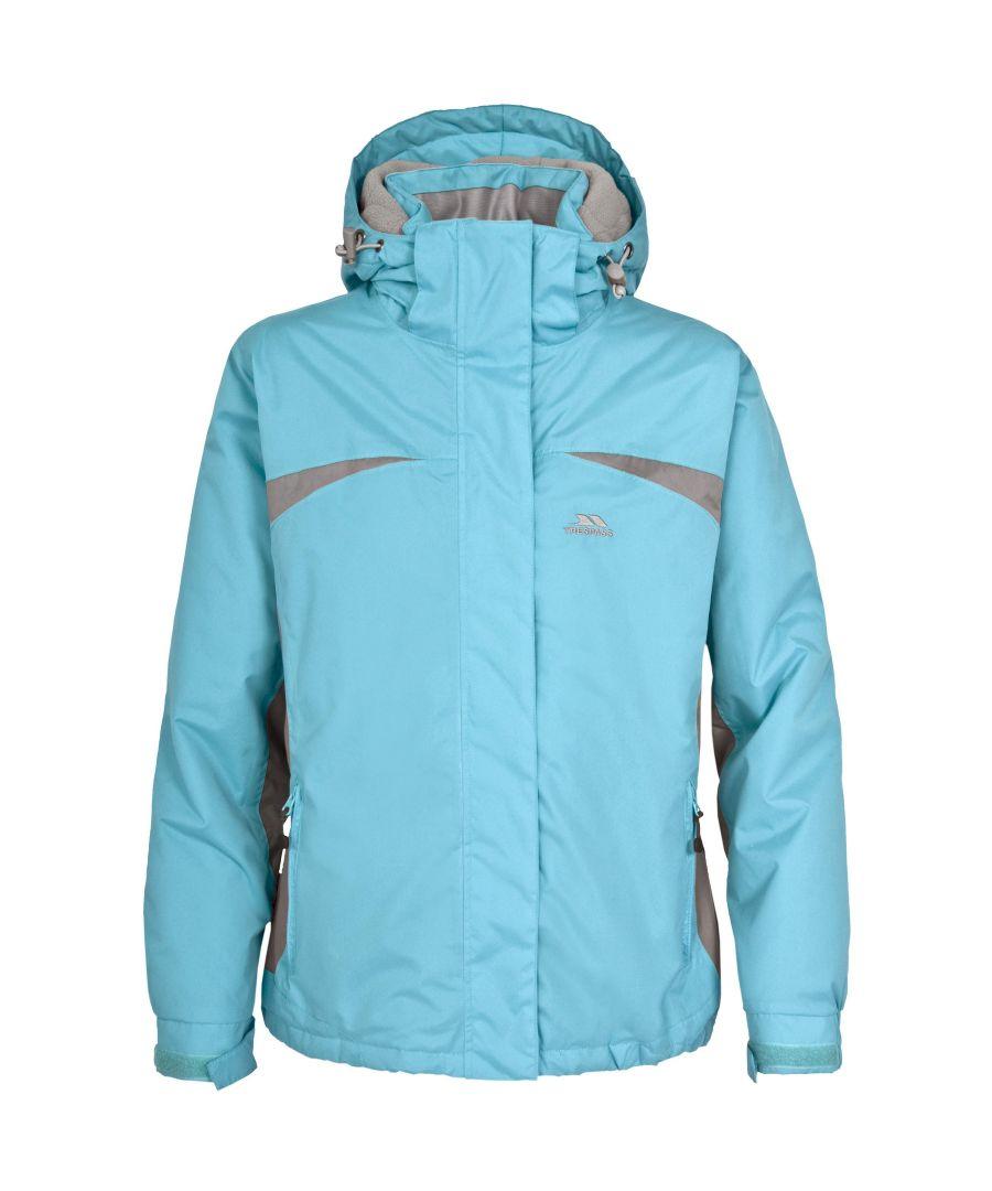 Image for Trespass Youths Girls Amiata Zip Up Thermal Waterproof Ski Jacket (Aqua)