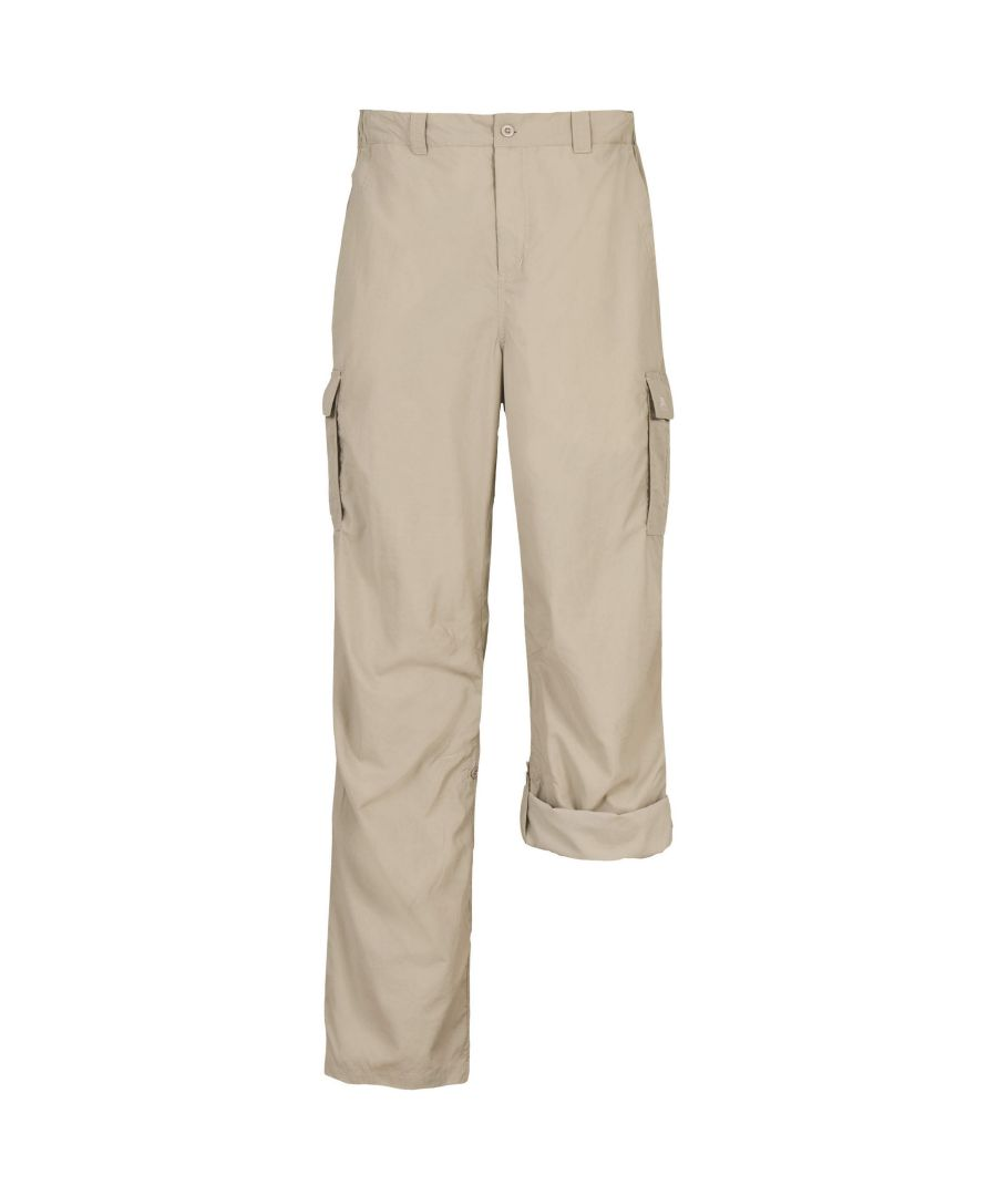 Image for Trespass Mens Taro Casual Roll Up Trousers (Mushroom)