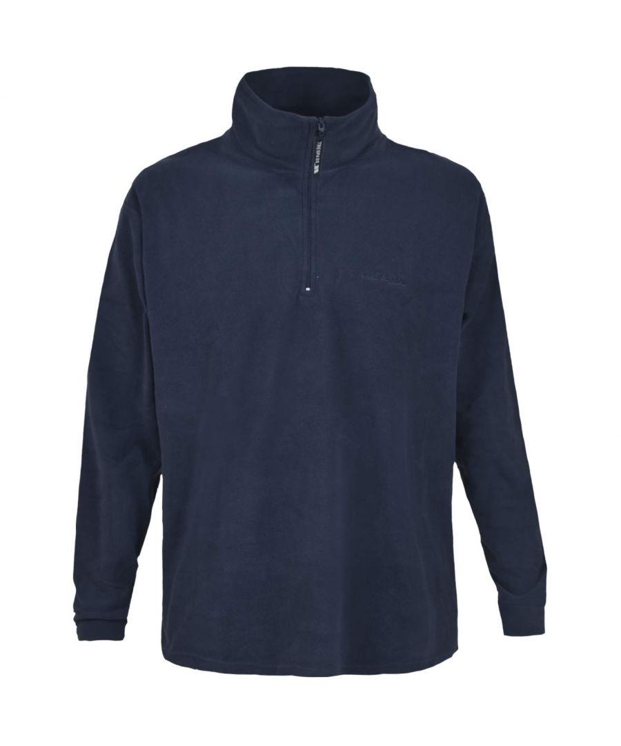 Image for Trespass Mens Lap Half Zip Microfleece Top (Navy Blue)