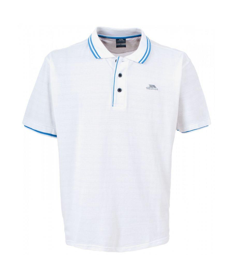 Image for Trespass Mens Filter Short Sleeve Contrast Polo Shirt