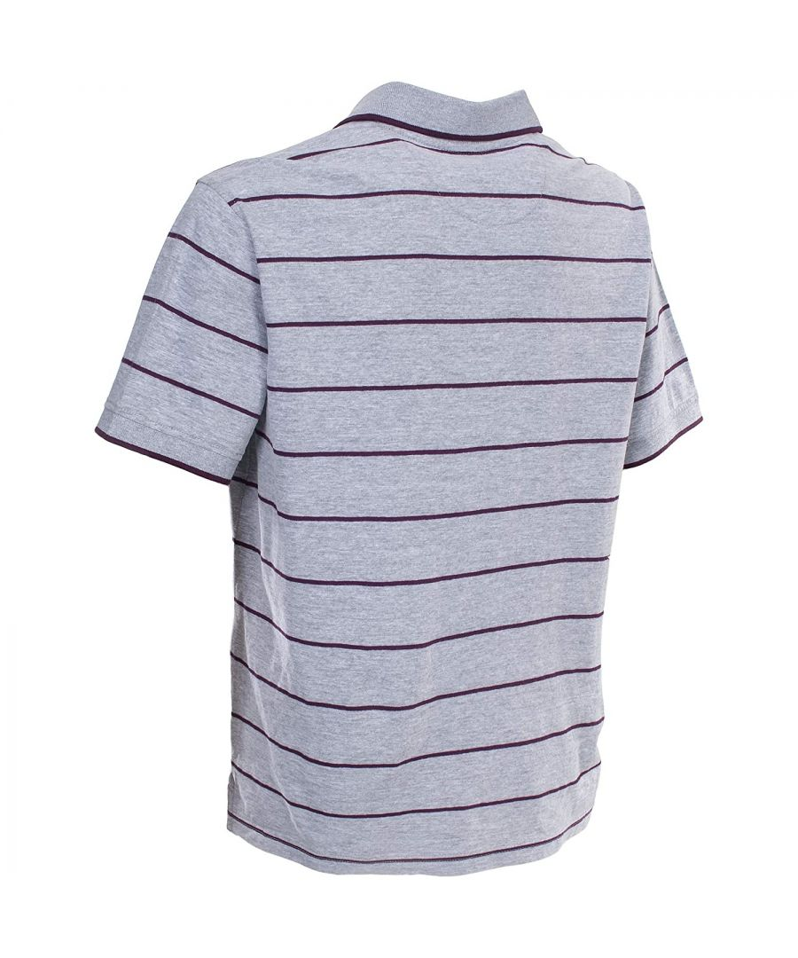 Image for Trespass Mens Samani Short Sleeve Striped Polo Shirt