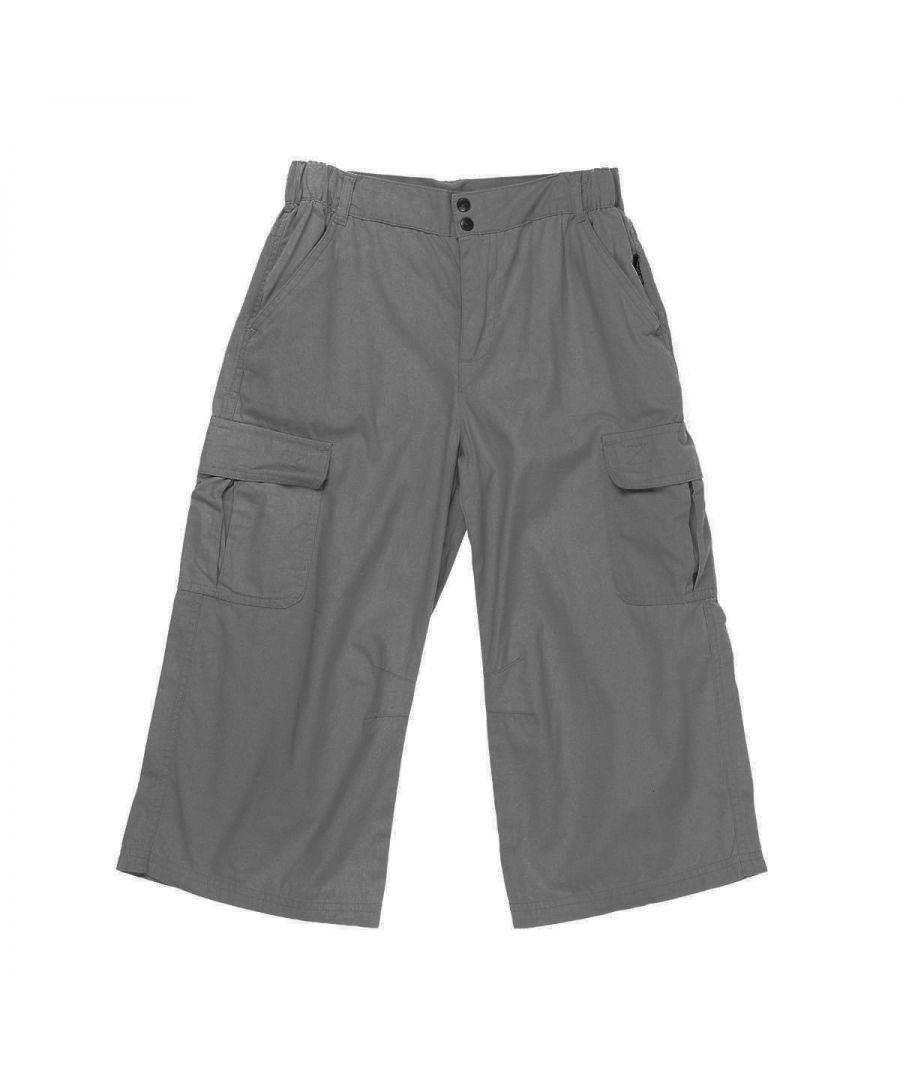 Image for Trespass Childrens Boys Flynn 3/4 Length Cargo Shorts (Granite)