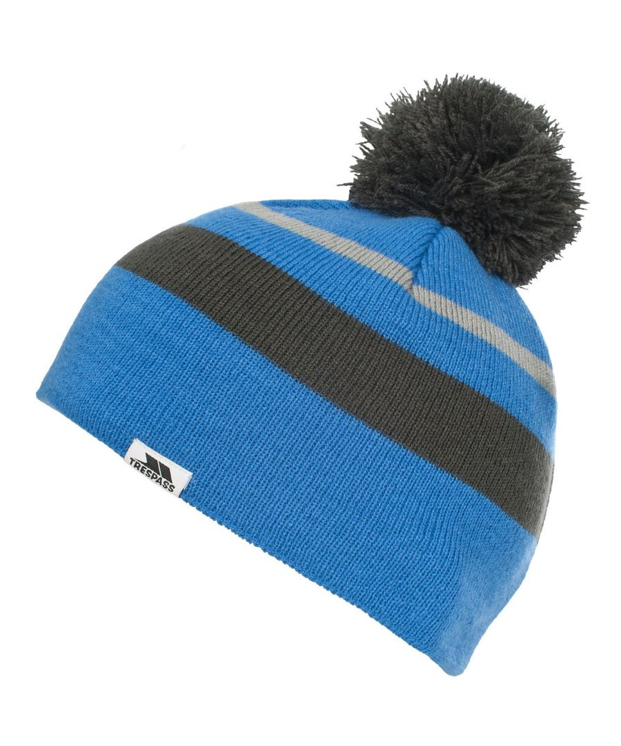 Image for Trespass Childrens Boys Pugsley Knitted Winter Bobble Hat