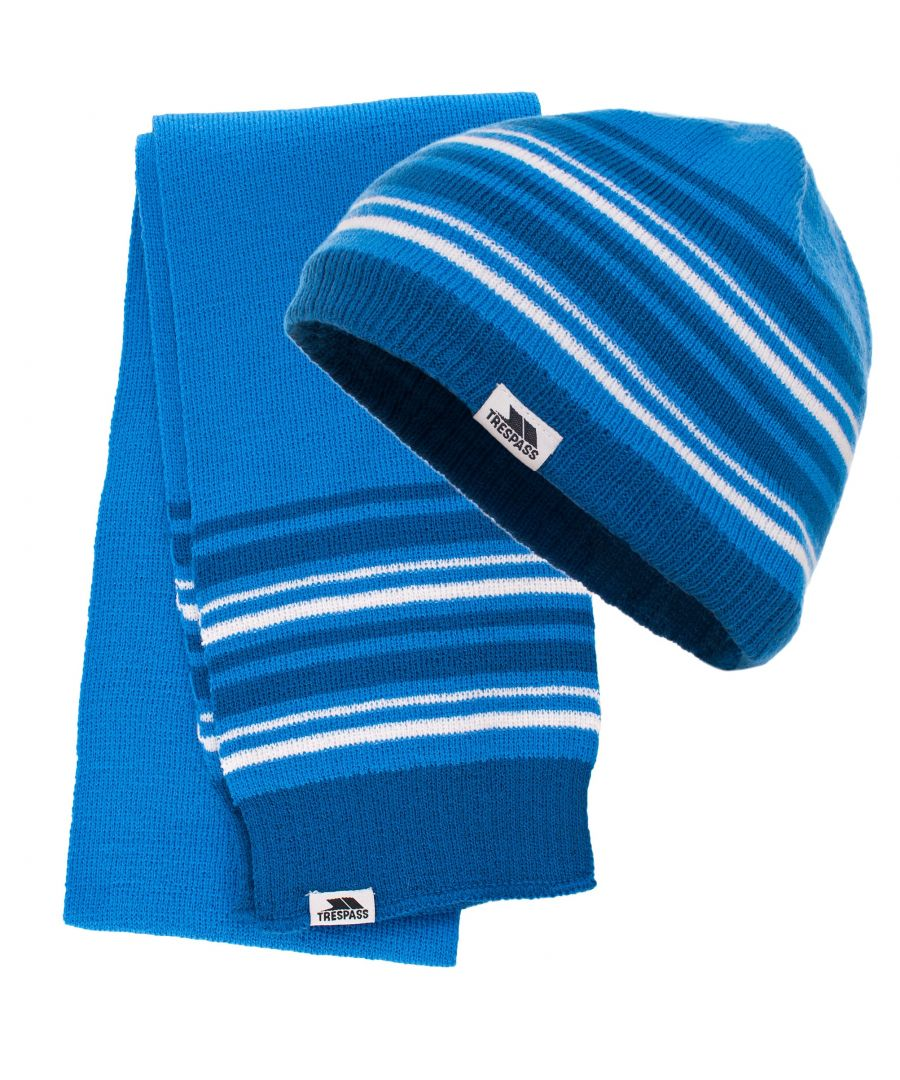 Image for Trespass Childrens/Kids Hedgehog Winter Hat And Scarf Set