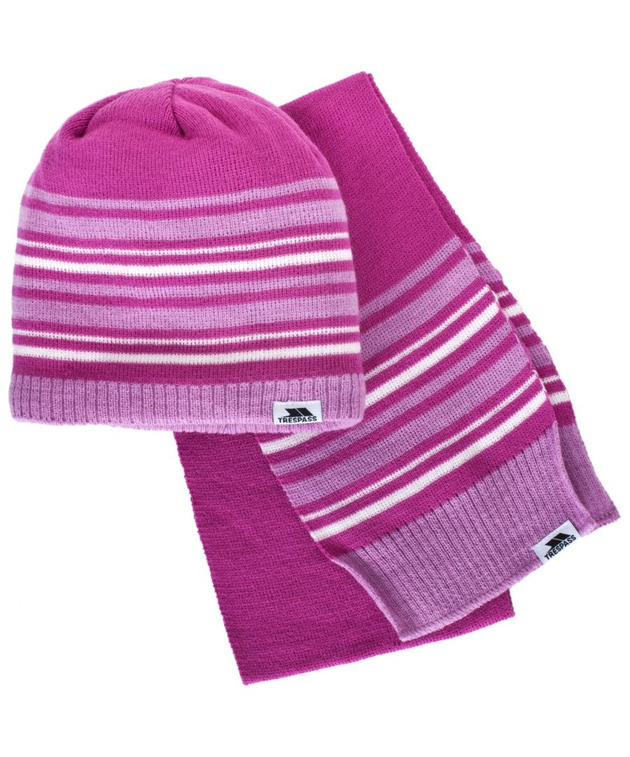 Image for Trespass Childrens/Kids Hedgehog Winter Hat And Scarf Set