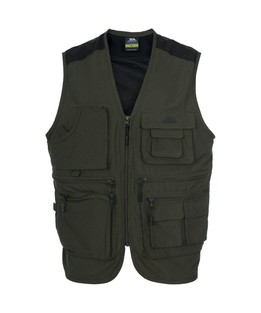 Image for Trespass Tackle Mens Sleeveless Fishing Vest/Bodywarmer (Marsh)