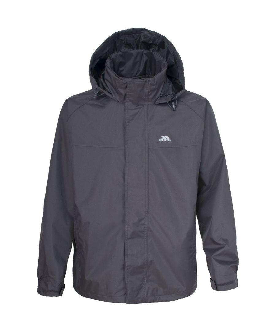 Image for Trespass Mens Nabro Hooded Full Zip Waterproof Coat/Jacket (Flint)