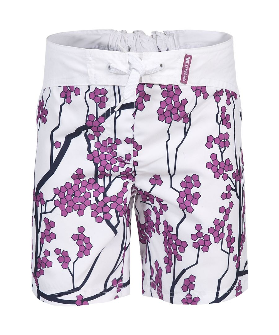 Image for Trespass Childrens Girls Mabel Lightweight Patterned Board Shorts