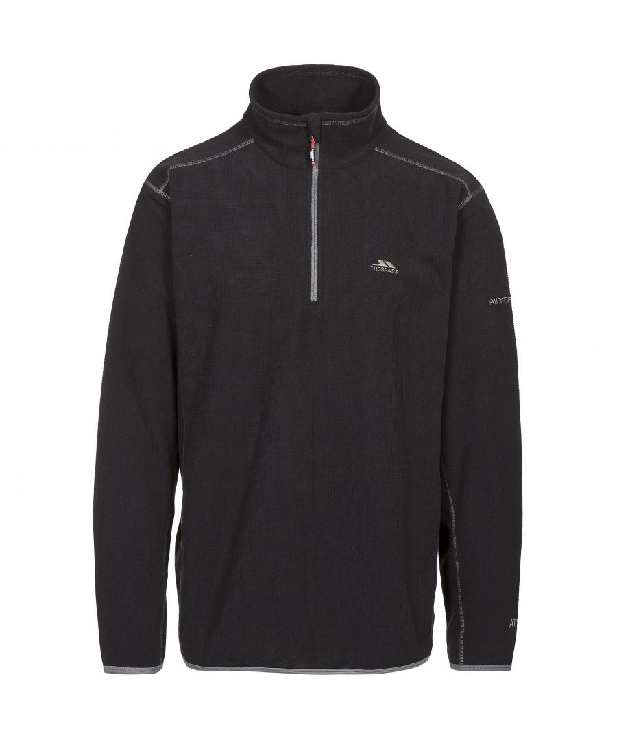 Image for Trespass Mens Jeremy Half Zip Fleece Top (Black)