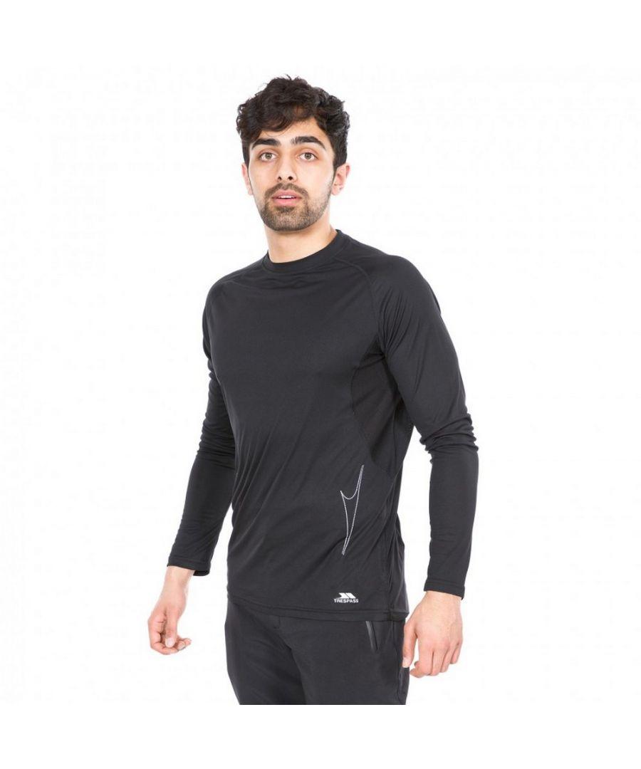 Image for Trespass Mens Toko Long Sleeve Active Top (Black)