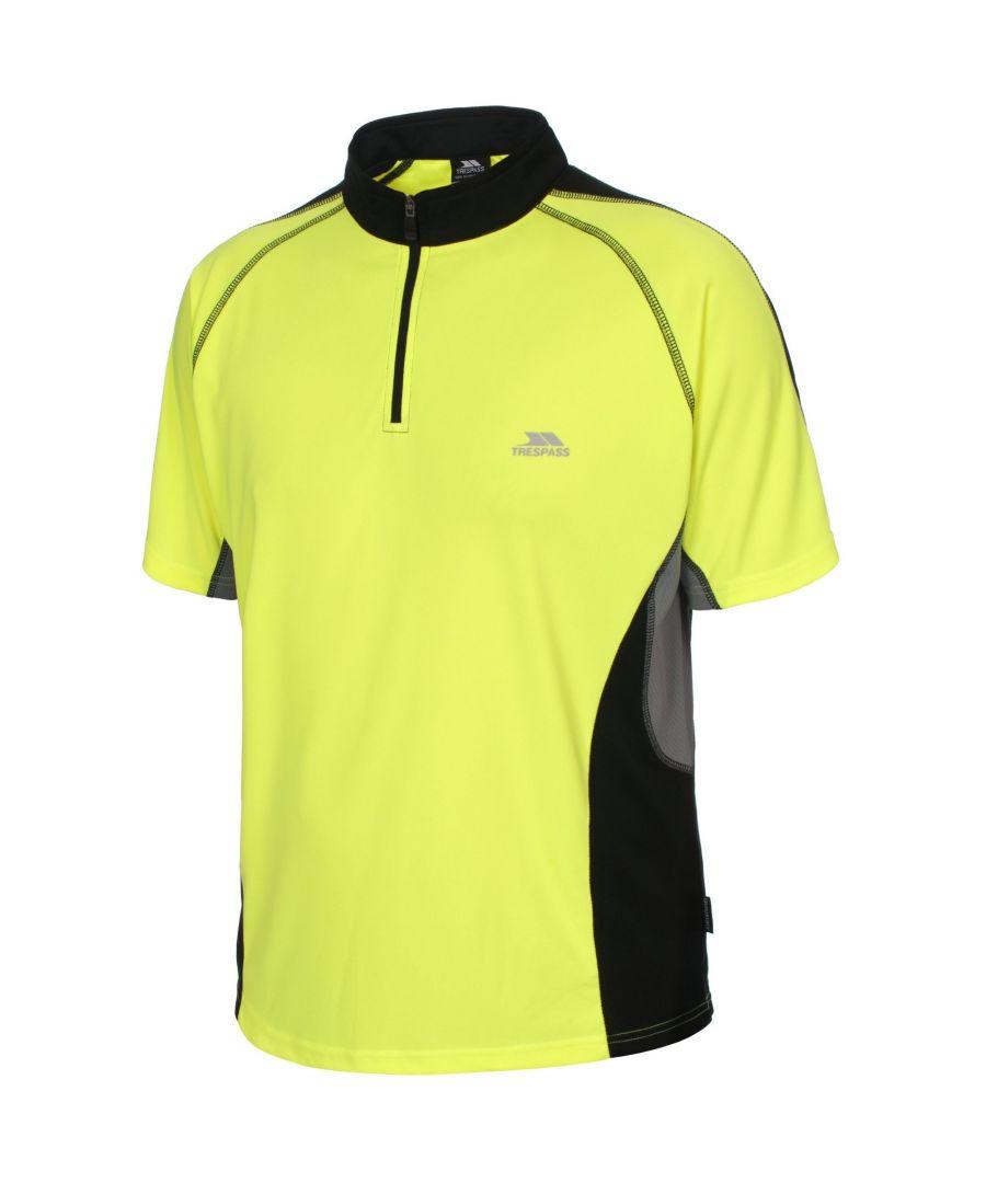 Image for Trespass Mens Grenada Short Sleeve Zip Neck Athletic T-Shirt