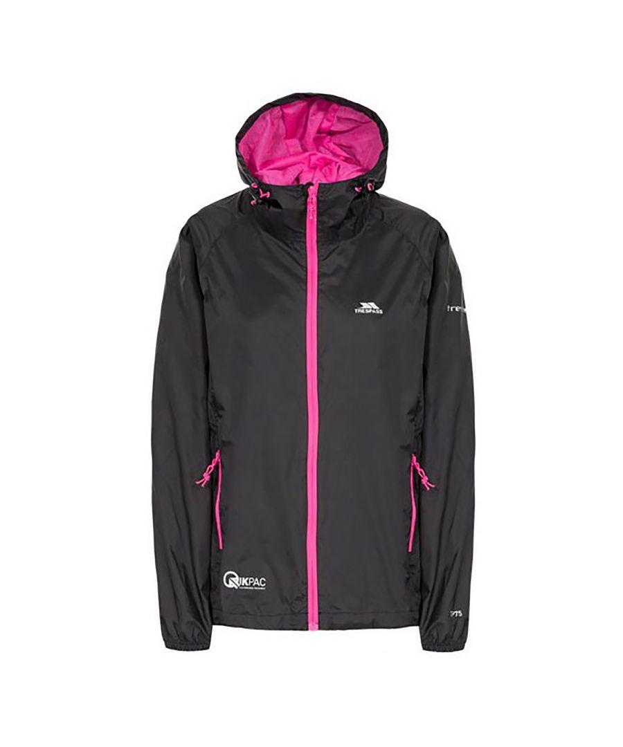 Image for Trespass Womens/Ladies Qikpac Waterproof Packaway Shell Jacket
