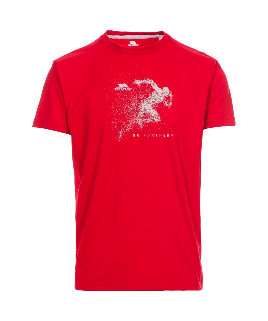Image for Trespass Mens Lyons Casual Short Sleeve T-Shirt (Red)