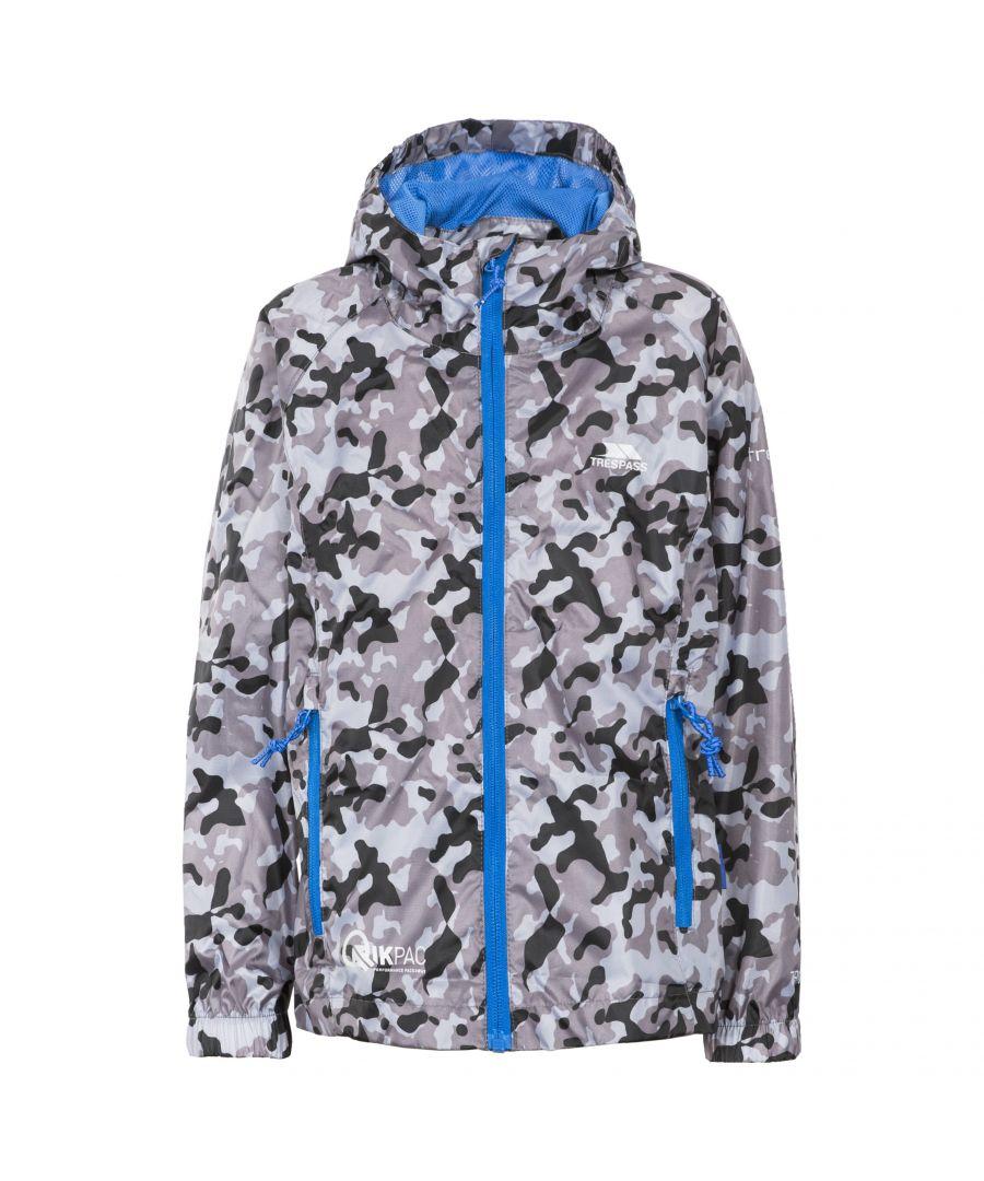 Image for Trespass Childrens/Kids Qikpac Waterproof Packaway Printed Jacket