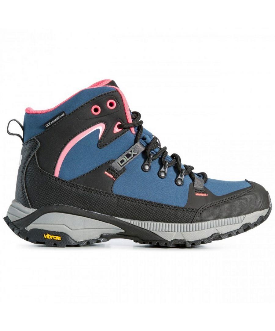 Image for Trespass Womens/Ladies Arlington Waterproof Softshell Hiking Boots (Midnight Blue)