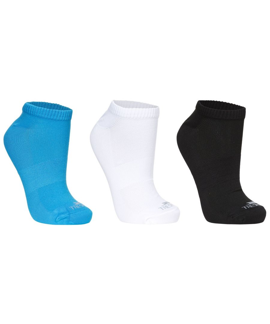 Image for Trespass Womens/Ladies Barricade Sports Trainer Socks (Pack Of 3)