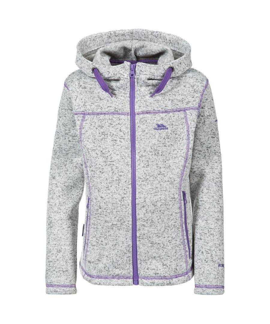 Image for Trespass Childrens Girls Lovell Hooded Fleece Jacket