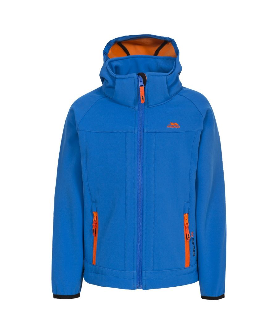 Image for Trespass Childrens/Kids Swamp Softshell Jacket (Blue)
