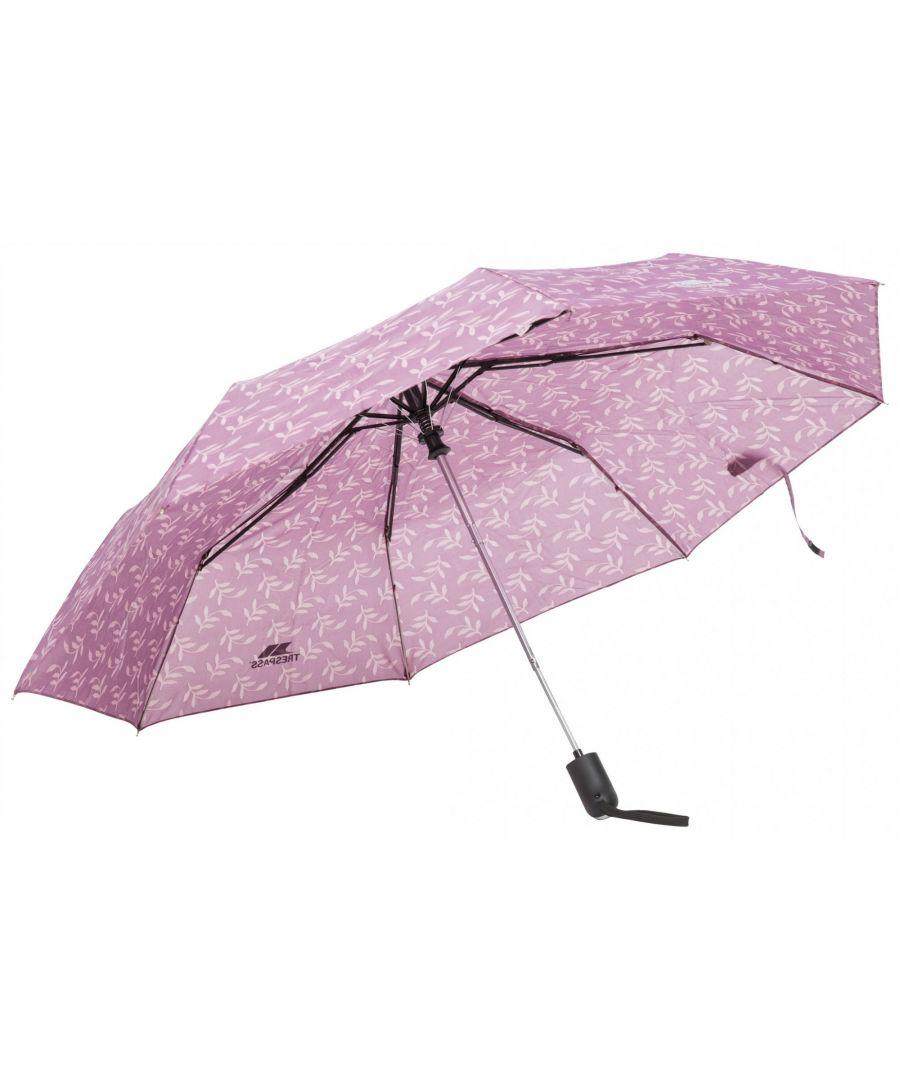 Image for Trespass Maggiemay Automatic Umbrella (Mauve Plant Print)