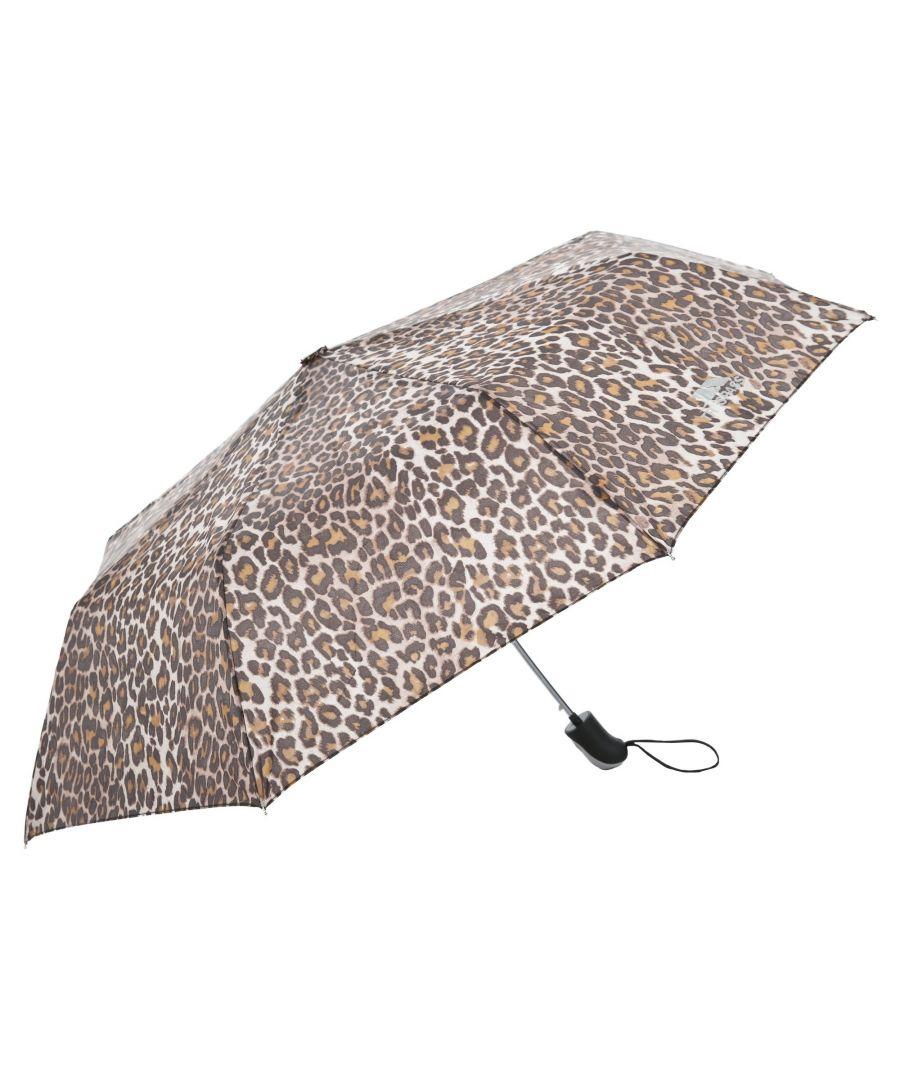 Image for Trespass Maggiemay Automatic Umbrella (Leopard Print)