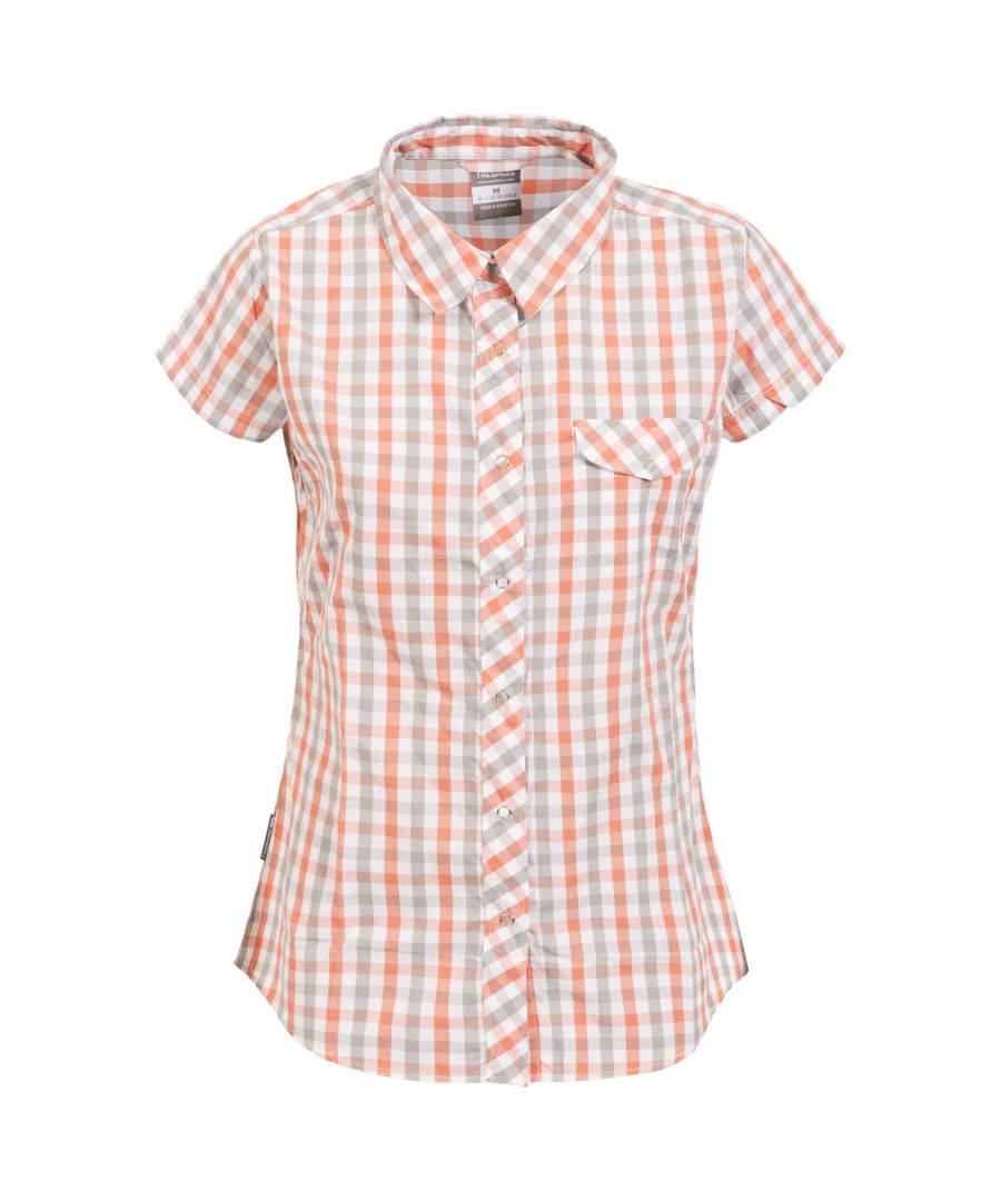 Image for Trespass Womens/Ladies Tilley Short Sleeve Casual Checked Shirt