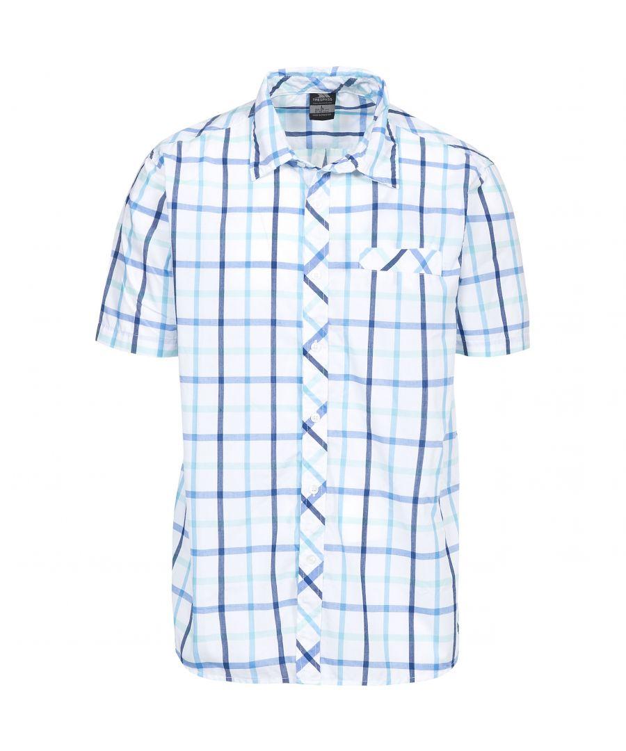 Image for Trespass Mens Arviat Short Sleeve Check Shirt