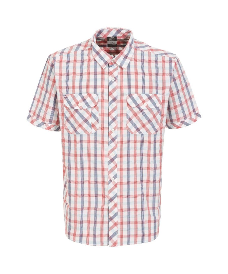 Image for Trespass Mens Hopedale Short Sleeve Check Shirt