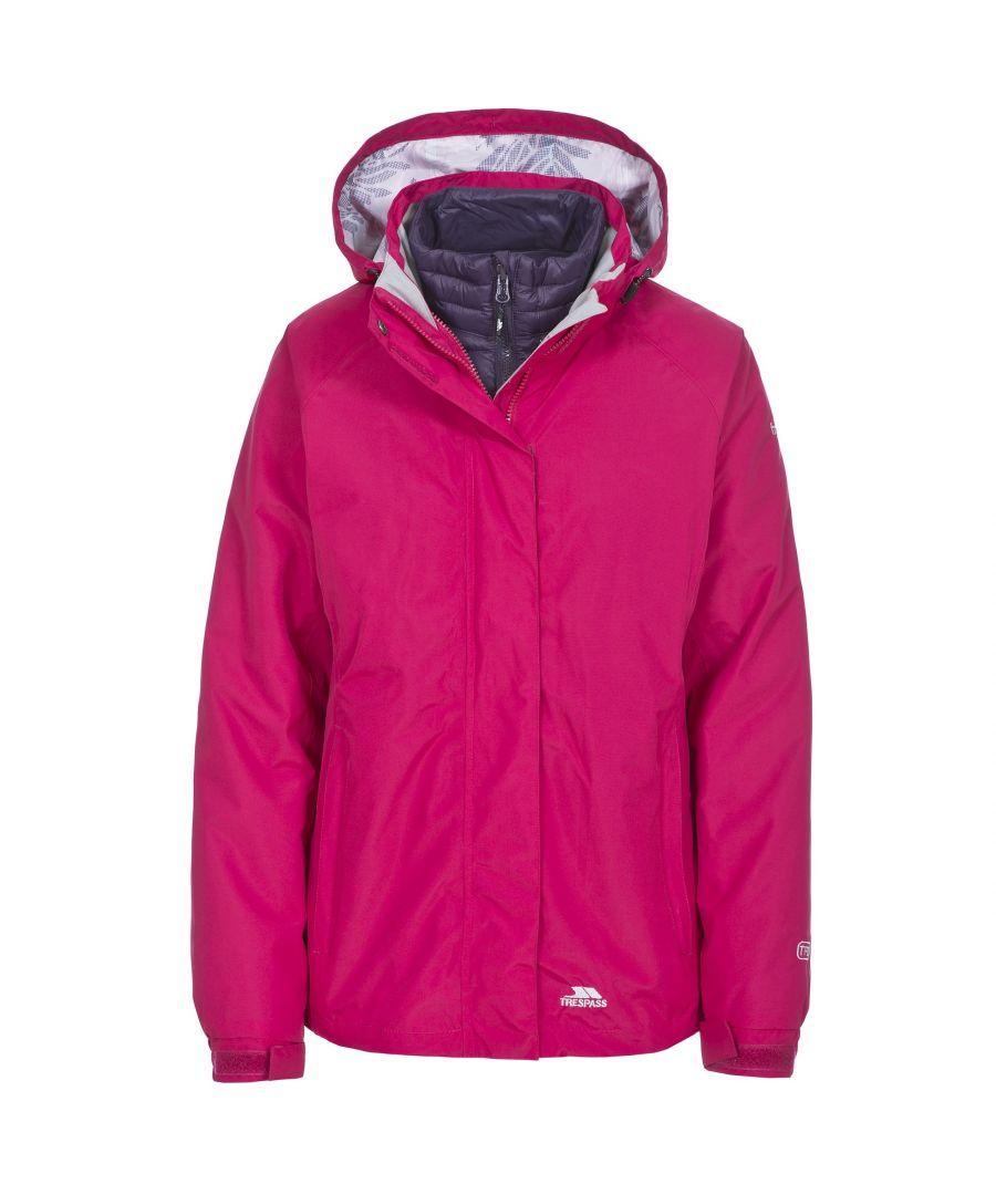 Image for Trespass Womens/Ladies Trailwind Waterproof 3-In-1 Jacket