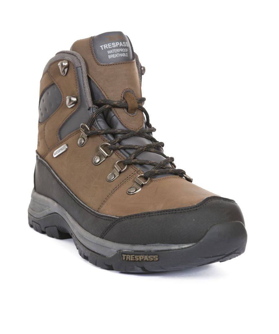 Image for Trespass Mens Thorburn Leather Waterproof Hiking Boots