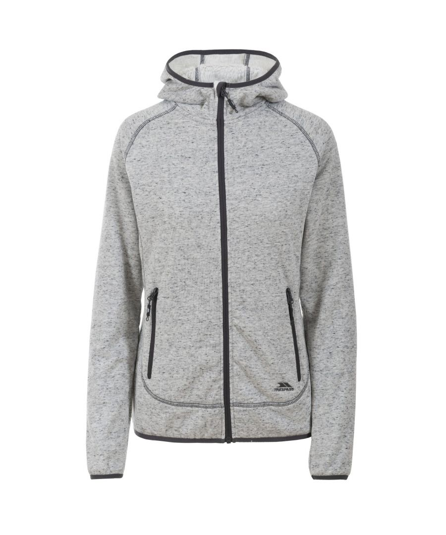 Image for Trespass Womens/Ladies Crosswind Full Zip Fleece Hoodie