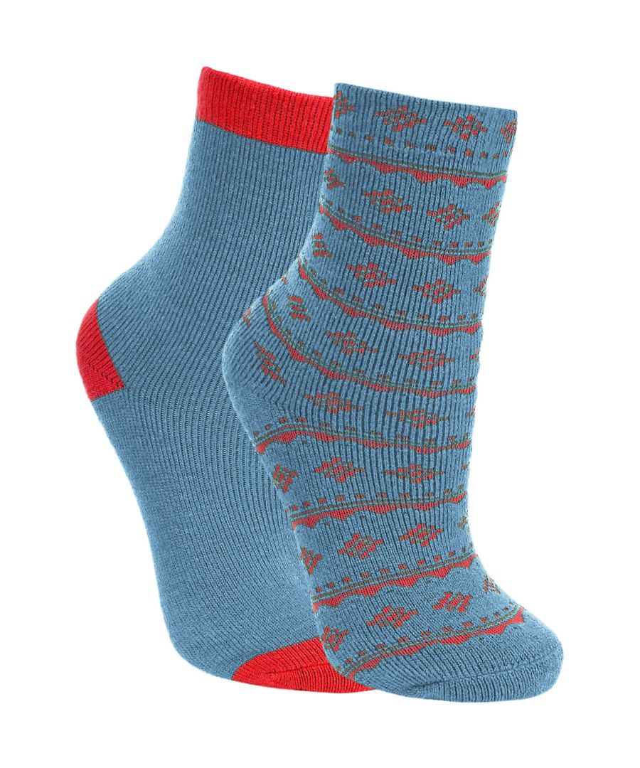 Image for Trespass Childrens Boys Hosie Two Tone Casual Socks (2 Pairs)