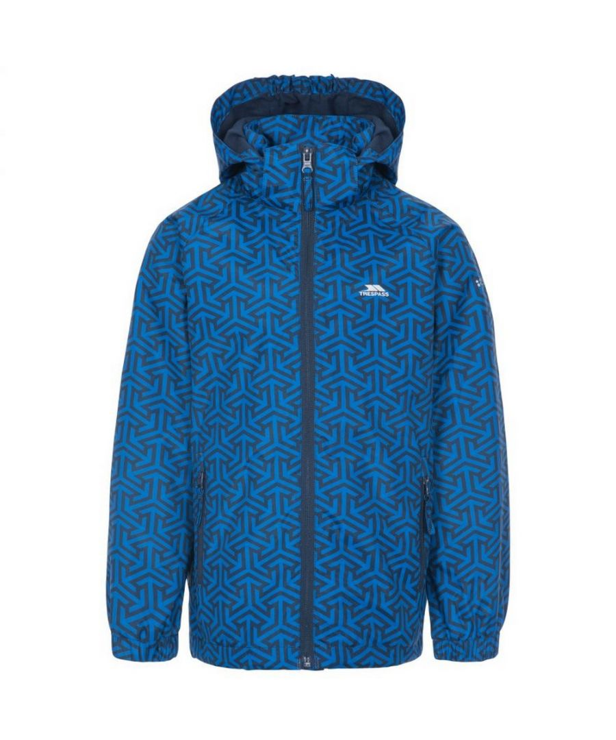 Image for Trespass Childrens Boys Sweeper Waterproof Jacket (Blue Print)