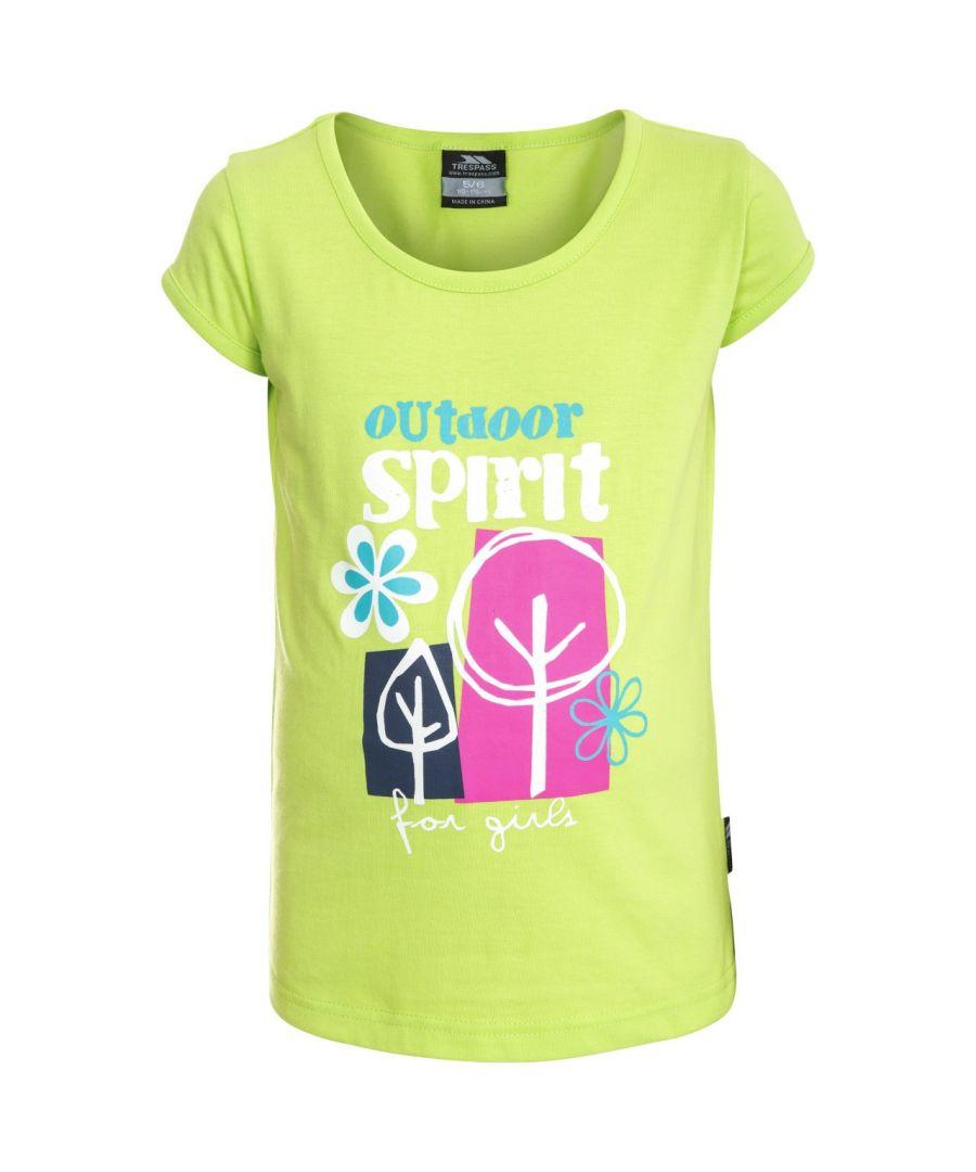 Image for Trespass Childrens Girls Wallflower Short Sleeve T-Shirt