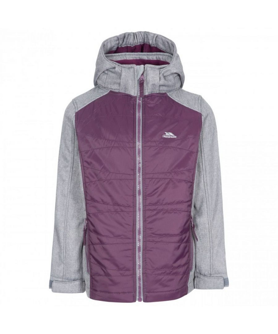 Image for Trespass Childrens Girls Rockrose Softshell Jacket (Potent Purple)