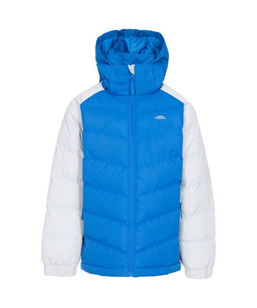 Image for Trespass Childrens Boys Sidespin Waterproof Padded Jacket (Blue/White)