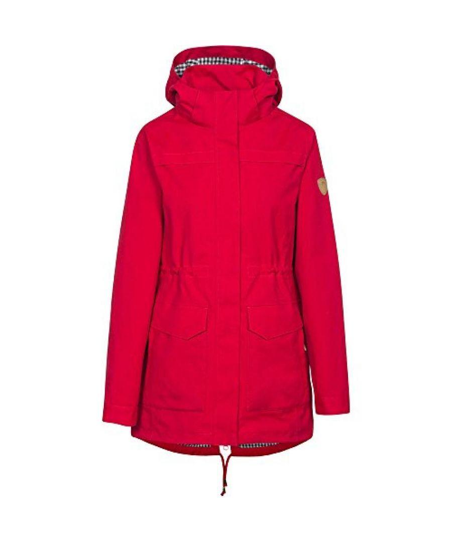 Image for Trespass Womens/Ladies Amanita Hooded Waterproof Rain Jacket