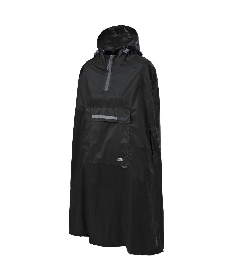 Image for Trespass Qikpac Unisex Hooded Waterproof Packaway Poncho