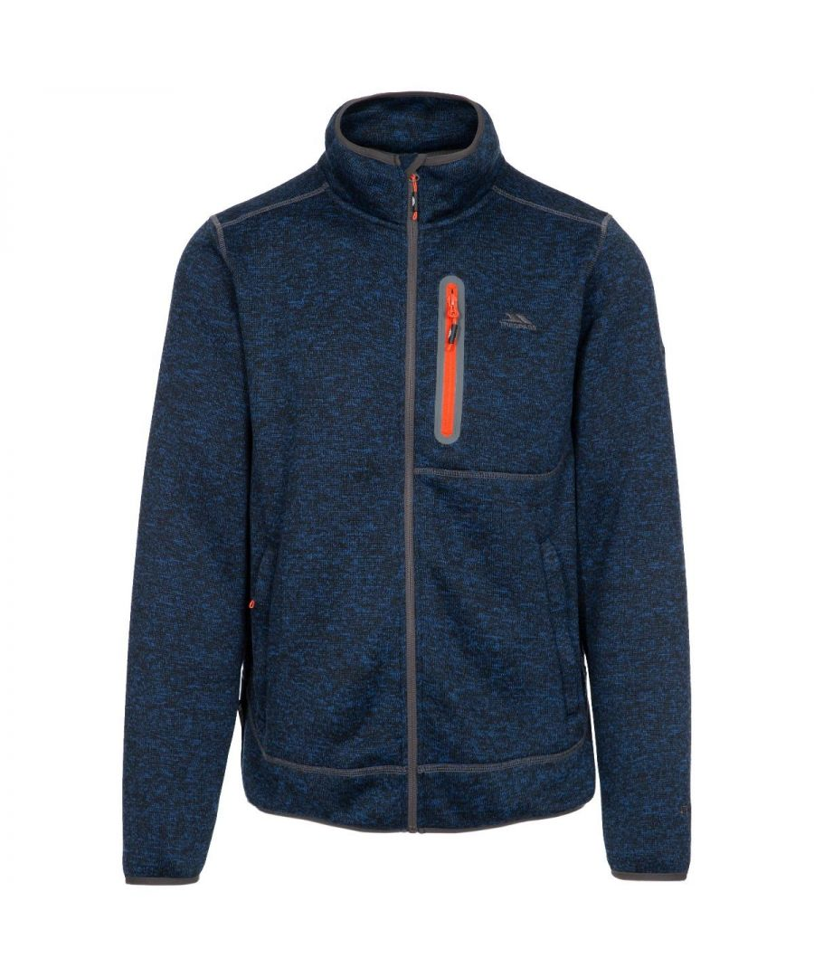 Image for Trespass Mens Bingham Fleece Jacket (Navy Marl)