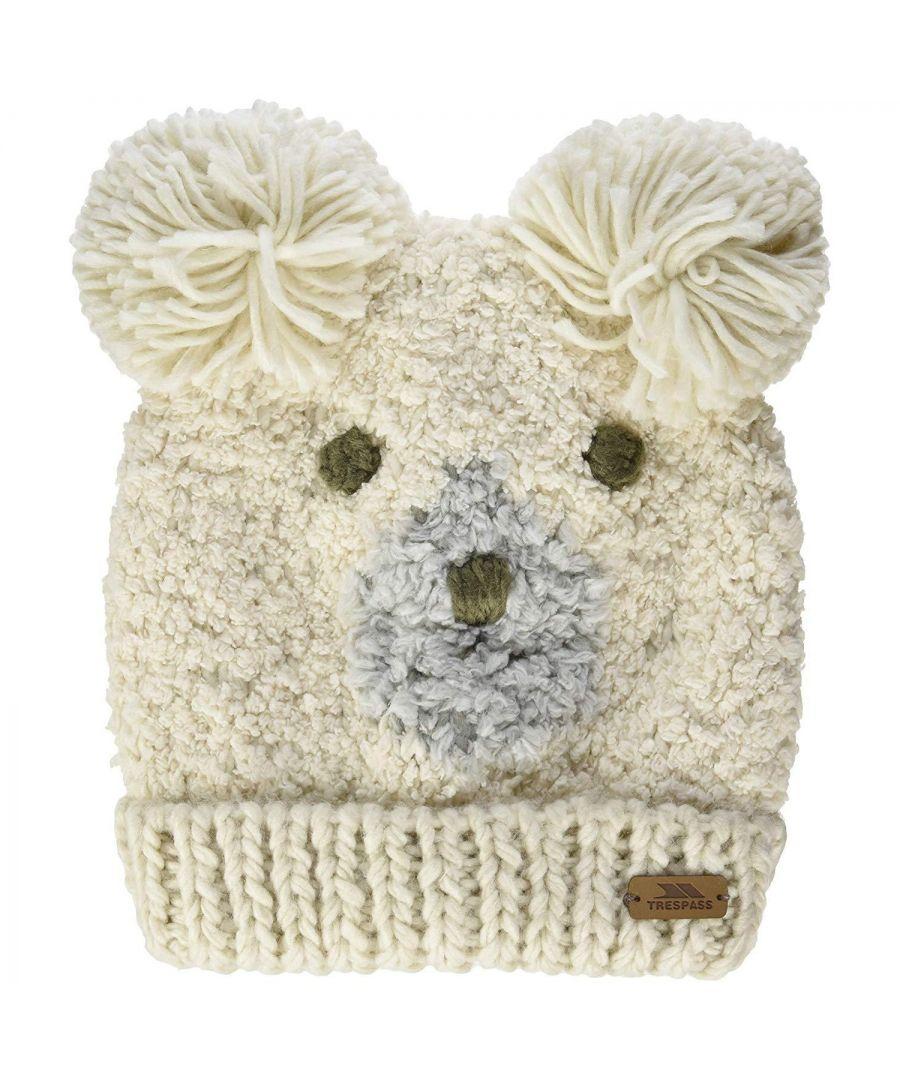 Image for Trespass Childrens/Kids Polar Bear Knitted Hat