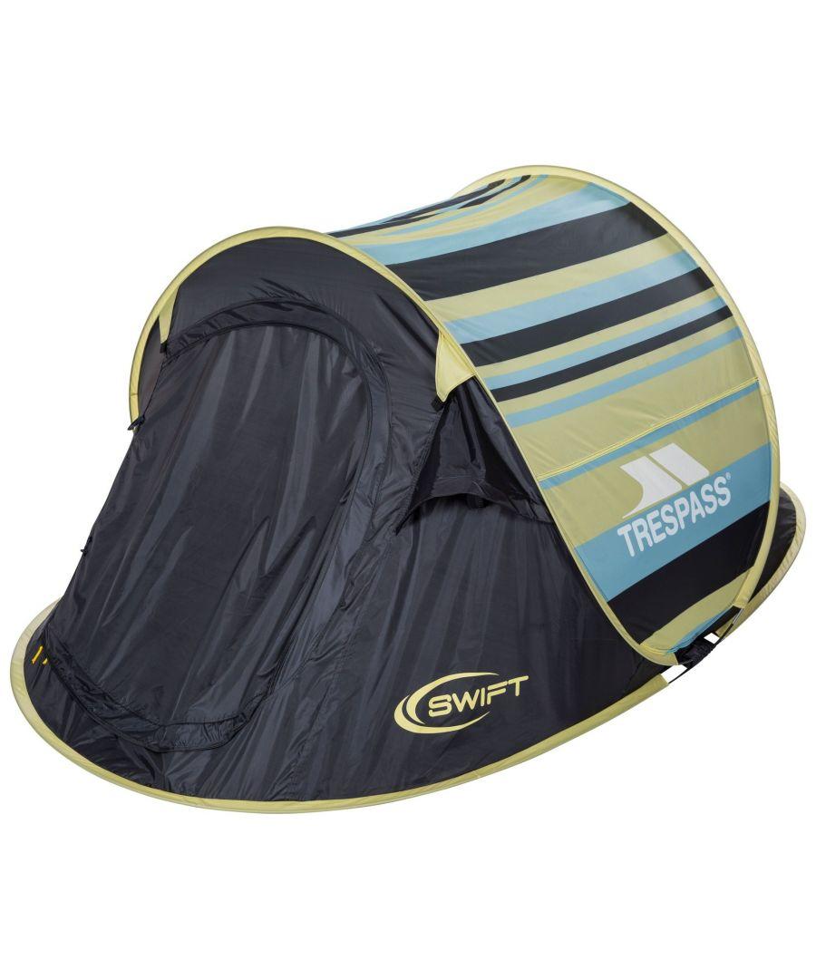 Image for Trespass Swift 2 Patterned Pop-Up Tent (Lemongrass Stripe)