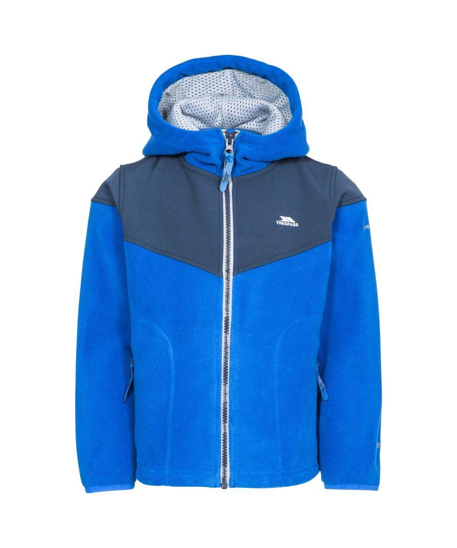 Image for Trespass Boys Bieber Hooded Fleece Jacket (Blue)