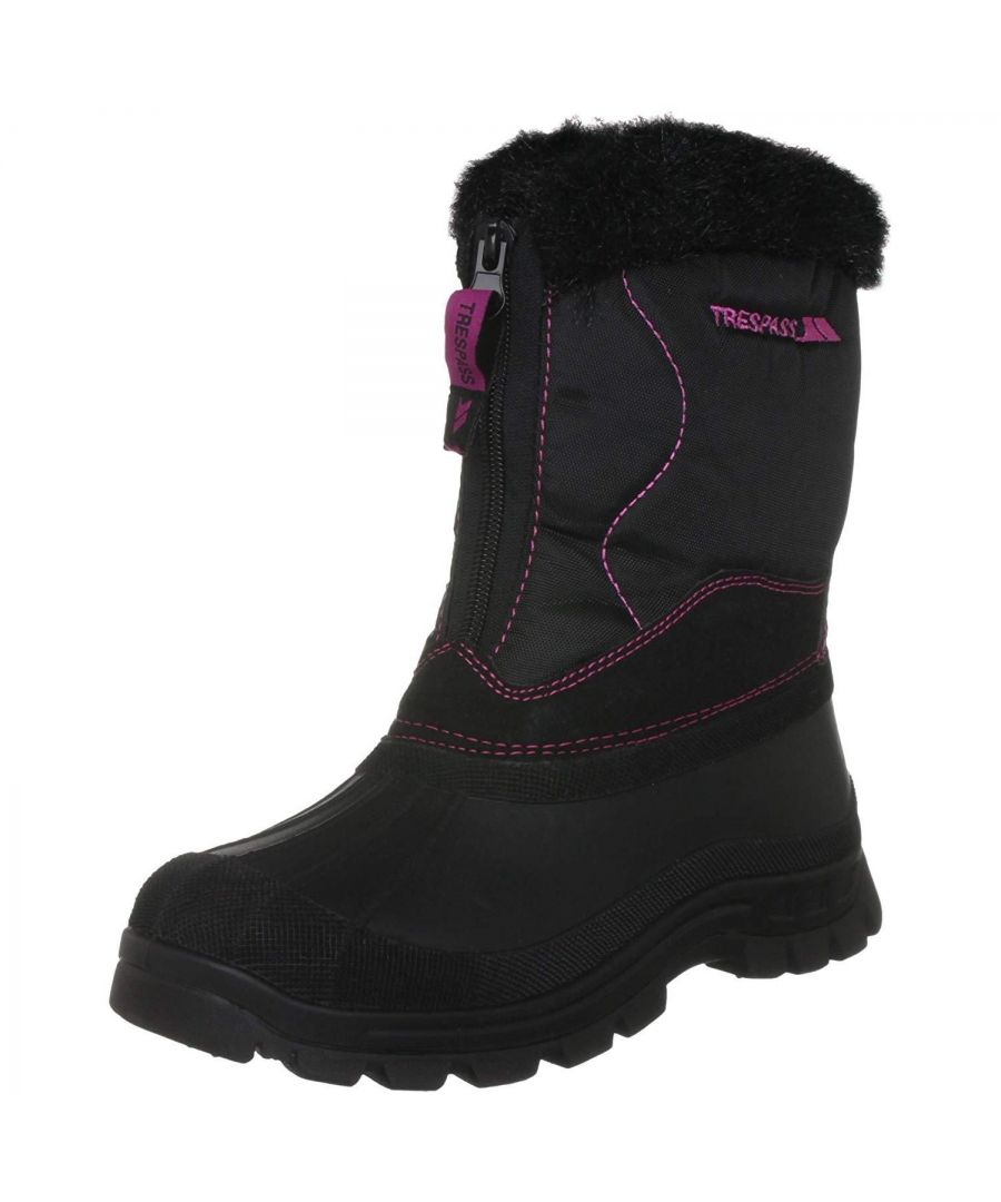 Image for Trespass Womens/Ladies Zesty Lace Up Snow Boots (Black)