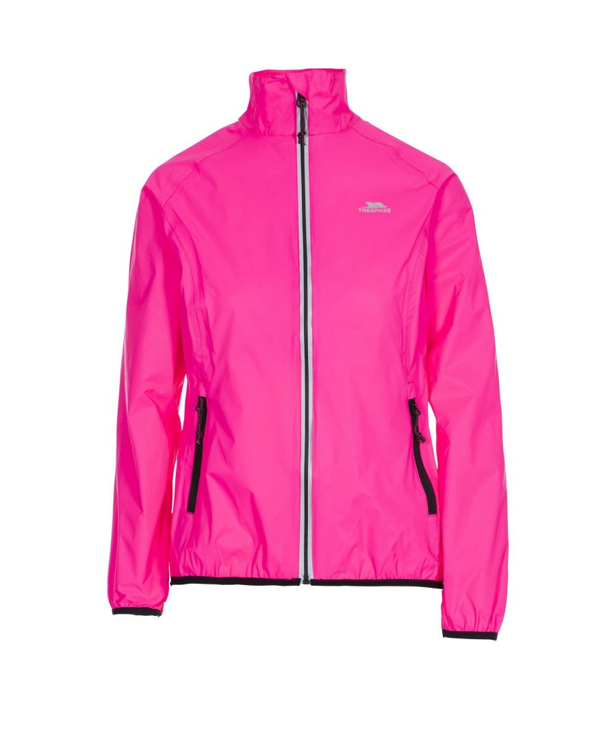 Image for Trespass Womens/Ladies Beaming Packaway Hi-Vis Jacket