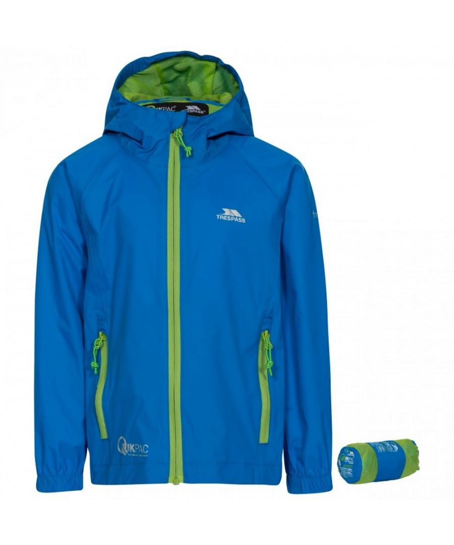 Image for Trespass Childrens/Kids Qikpac Waterproof Packaway Jacket