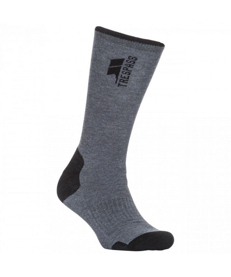 Image for Trespass Mens Way Fairer Trekking Socks (Carbon Marl)