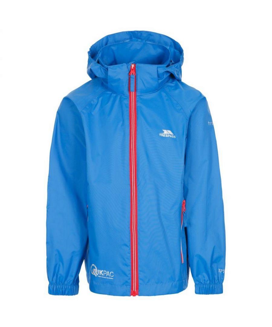 Image for Trespass Childrens/Kids Qikpac X Unisex Packaway Jacket (Blue)